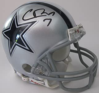 Cooper Rush, Dallas Cowboys, Signed, Autographed, Football Mini Helmet, a COA with the Proof Photo of Cooper Signing Will Be Included