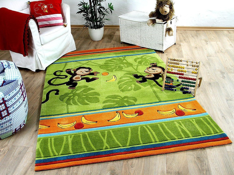 Lifestyle Kinderteppich Affenspaß Grün in in in 3 Größen     Sofort Lieferbar     B00Y1YWU7M 4f9a41