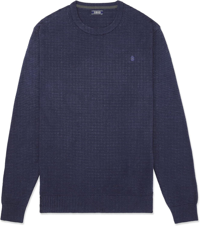 IZOD Men's Big price and Tall 5% OFF Classics Textured Crewneck Sleeve Long O