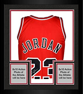 Framed Michael Jordan Chicago Bulls Autographed 1997-98 Mitchell & Ness Red Jersey - Upper Deck - Fanatics Authentic Certified
