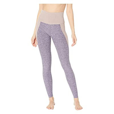 Beyond Yoga Spacedye Off Duty High-Waisted Long Leggings (Deep Amethyst/Wild Wisteria Color Block) Women