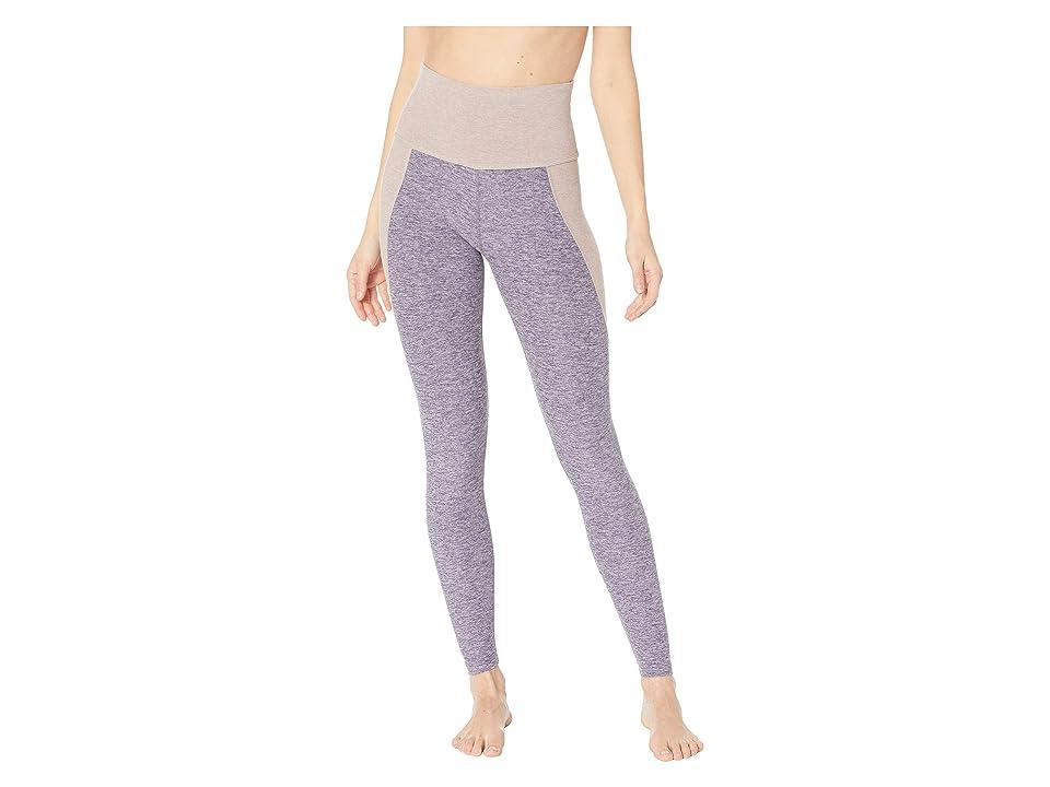 Beyond Yoga Spacedye Off Duty High-Waisted Long Leggings (Deep Amethyst/Wild Wisteria Color Block) Women