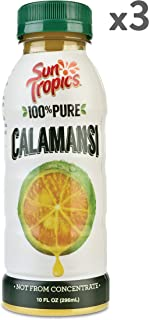 Sun Tropics 100% Pure Calamansi Juice, 10 Oz, 3Count, Not From Concentrate, Citrus Juice