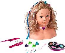 Theo Klein 5240 Testa da truccare e pettinare Sophia Princess Coralie, mollette capelli, make-up dermatologicamente testato, accessori, 23.5 x 13 x 27 cm, Giocattolo per bambini a partire dai 3 anni