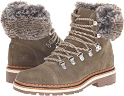 211f590a8430 Moss Green Grey Multi Velutto Suede Leather Apline Fur