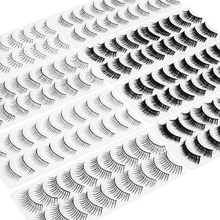 Wleec Beauty 80 Pairs False Eyelash Pack Eyelashes Set, 10 Pairs Strip Lashes Each Style/8 Style