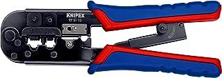 KNIPEX 97 51 10 Alicate para entallar terminales Western bruñido con fundas en dos componentes 190 mm