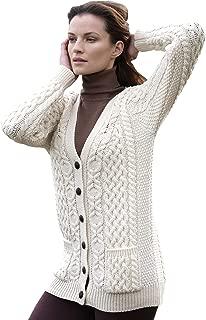 Women/'s Brigid Hooded Aran Cardigan