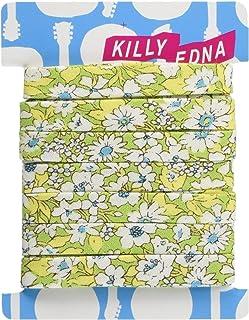 KILLYEDNA(キリィエドナ) 縁どりバイアステープ2個セット[小花柄・グリーン] 2 kt-bt01-FGR02