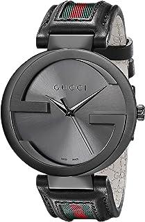 842b51b2ffa Gucci Men s YA133206 Interlocking Iconic Bezel Anthracite Dial Watch