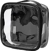 Clear TSA Approved 3-1-1 Travel Toiletry Bag/Transparent See Through Organizer (Black)
