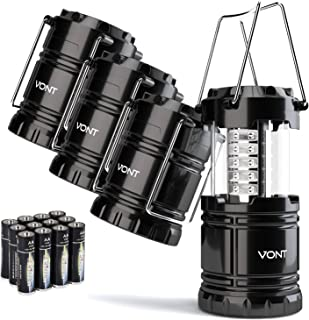 Vont 4 Pack LED Camping Lantern, LED Lantern, Suitable for Survival Kits for Hurricane,..