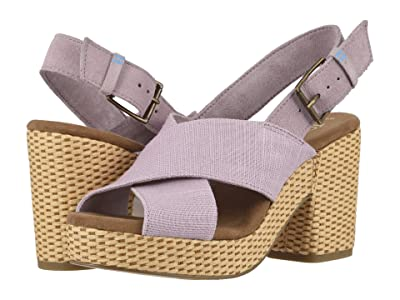 TOMS Ibiza (Burnished Lilac Heritage Canvas/Suede) Women