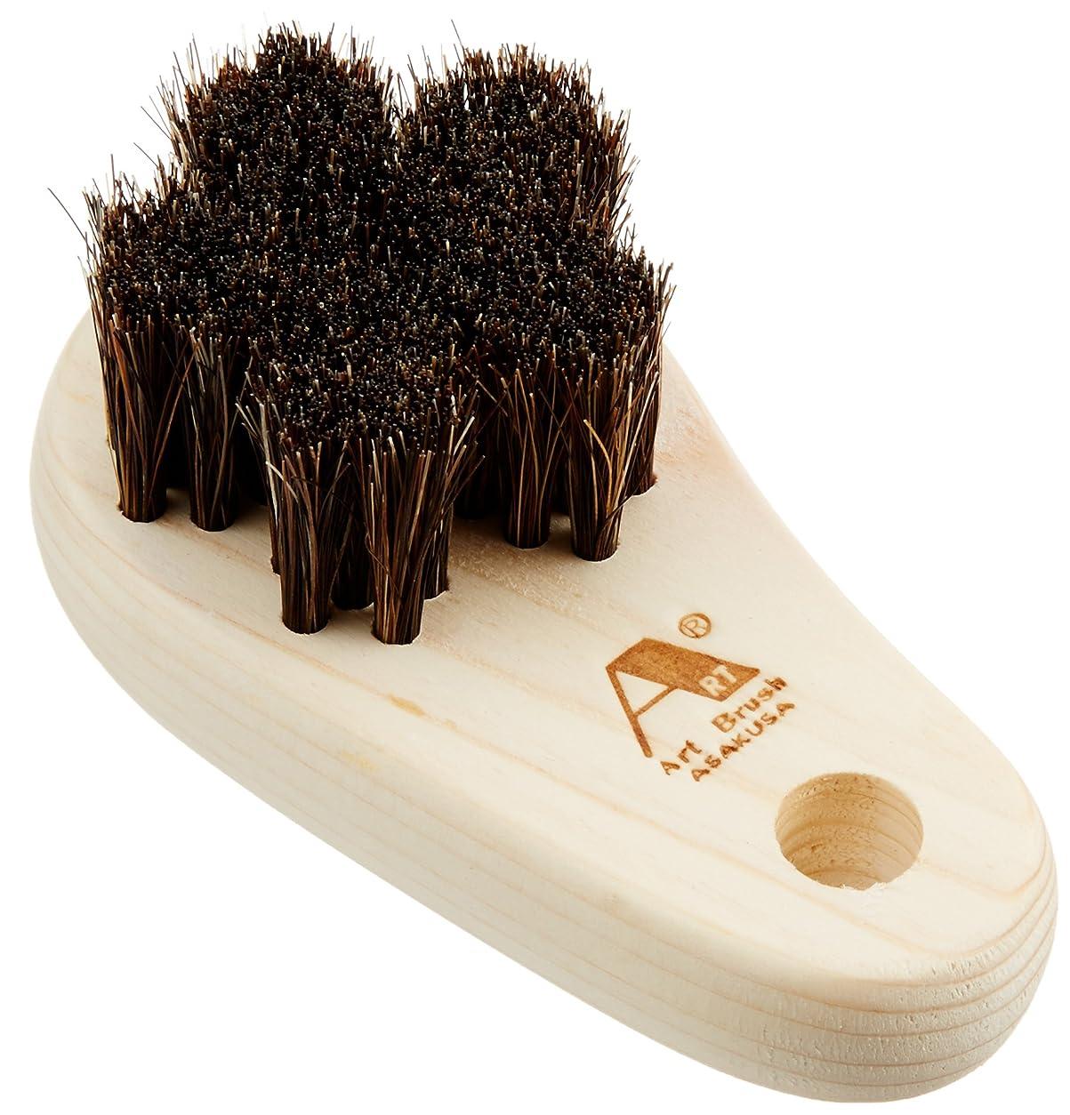 木材把握参照アートブラシ社製馬毛のフットブラシさくら