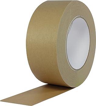 Paper self-sealing packaging tape