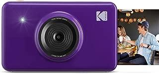 Kodak Mini Shot Wireless Instant Digital Camera & Social Media Portable Photo Printer, LCD Display, Premium Quality Full Color Prints, Compatible w/iOS & Android (Purple)