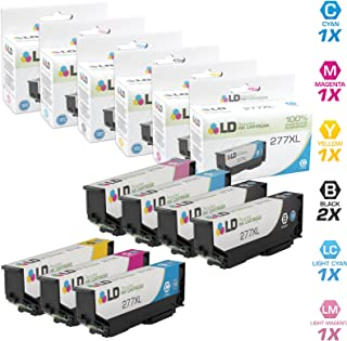 LD Remanufactured Ink Cartridge Replacements for Epson 277XL High Yield (2 Black, 1 Cyan, 1 Magenta, 1 Yellow, 1 Light Cyan, 1 Light Magenta, 7-Pack)