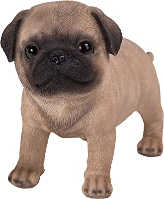 Pacific Giftware Realist Look Pug Puppy Standing Resin Figurine Statue