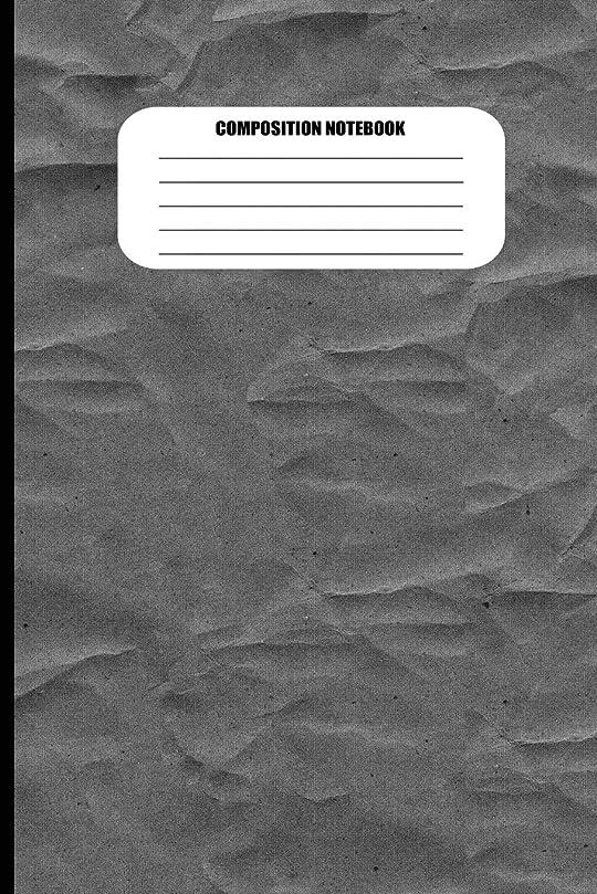パール予防接種祈りComposition Notebook: Wrinkled Cloth Texture Efffect (Gray / Grey) (100 Pages, College Ruled)