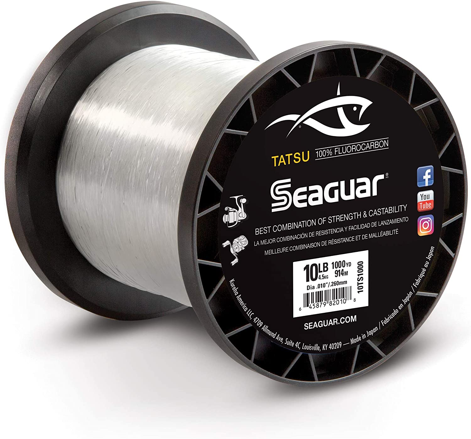 Seaguar TATSU 1000-Yards Fluorocarbon 10-Pound Fishing Trust Line SEAL limited product