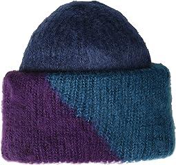 Color Block Woven Beanie