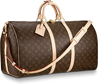 Louis Vuitton Monogram Keepall Bandouliere Travel Bag (Keepall 55)