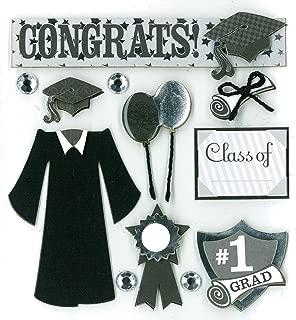 K&Company 12pcs Scrapbook Graduation stickers