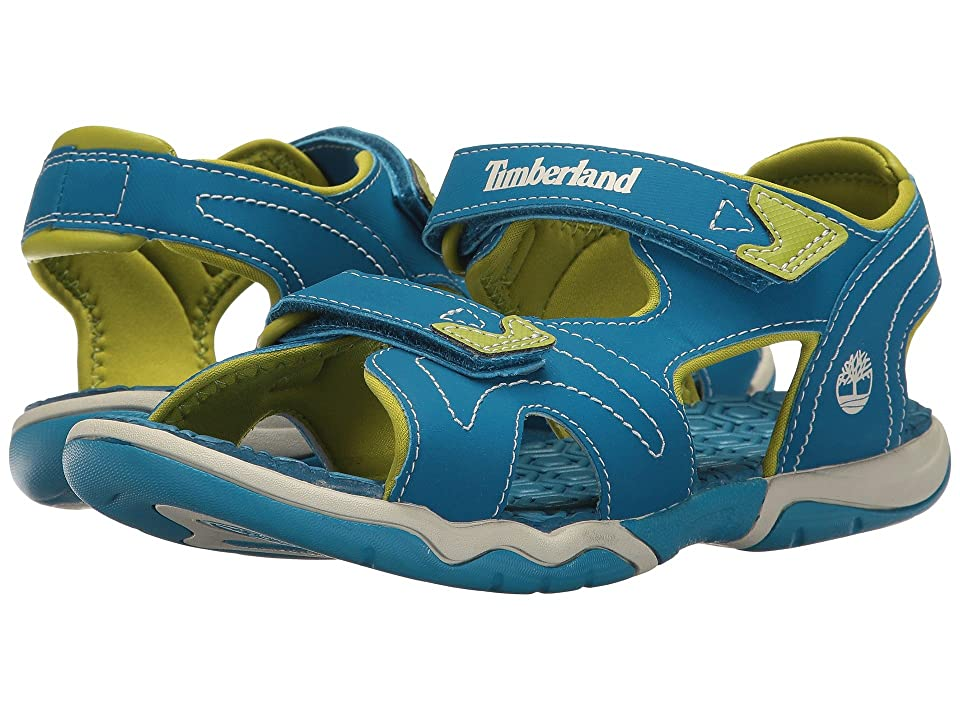 Timberland Kids Adventure Seeker 2 Strap Sandal (Big Kid) (Mykonos Blue) Kids Shoes