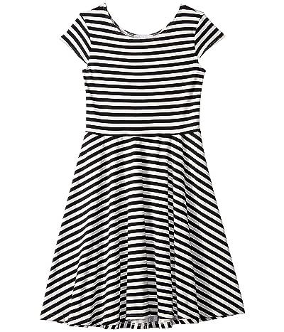 fiveloaves twofish Capri Skater Dress (Big Kids) (Black/White) Girl