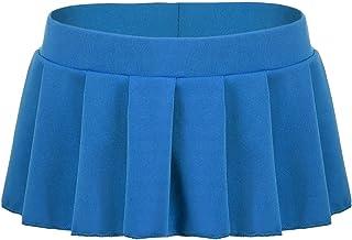 2c057db6b9 playfond Women Schoolgirl Skirt Cosplay Sleepwear Plaid Mini Pleated Dress