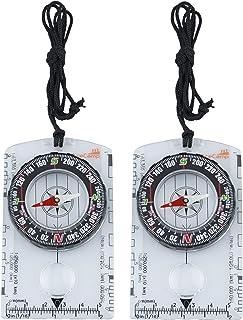 AceCamp Compass Outdoor Premium Bussola Portatile con funzioni, Strumenti di Navigazione per l'escursione in Campeggio, Tr...