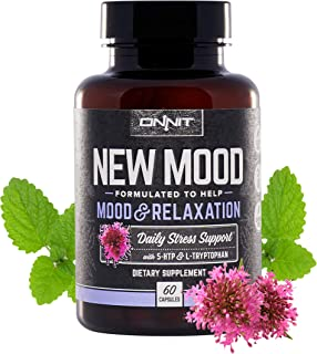 Onnit New Mood: Daily Stress, Mood, and Sleep Support Supplement (60 Count)