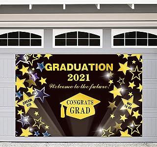 Graduation Banner 2021 – Graduation Decorations 2021 Black and Gold - Congrats Grad Sign - Large Graduation Photo Backdrop...