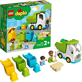 LEGO 10945 DUPLO Town Garbage Truck and Recycling Educational Toy for 2 + Year Olds, Preschool Learning Set for Toddlers
