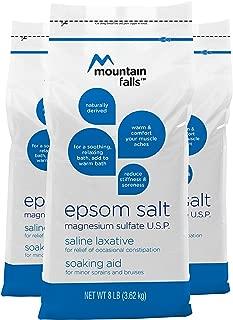 Mountain Falls Epsom Salt Magnesium Sulfate, 8 Pound (Pack of 3)
