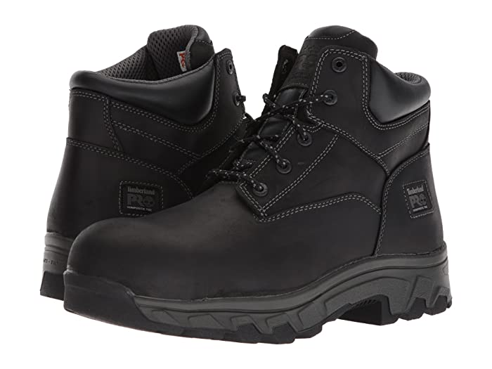 Timberland PRO  Workstead 6 Composite Safety Toe SD (Black Full-Grain Leather) Mens Work Lace-up Boots
