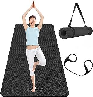 CAMBIVO Duża mata do jogi dla kobiet mężczyzn, bardzo szeroka mata do ćwiczeń, TPE przyjazna dla środowiska antypoślizgowa...