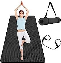 CAMBIVO Extra brede yogamat, TPE milieuvriendelijk (183 x 81 x 0,6 cm), antislip fitnessmat, lichtgewicht reisyogamat voor...