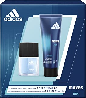 Adidas, Moves for Him. 2 Piece Gift set with EDT and Body Wash,  Total Retail Value $22.00