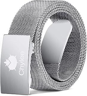 Mens Belt, Milanese Belts for Men, Infinitely Adjustable and Fully Magnetic Design Non-Leather Belt, Gifts for Husband