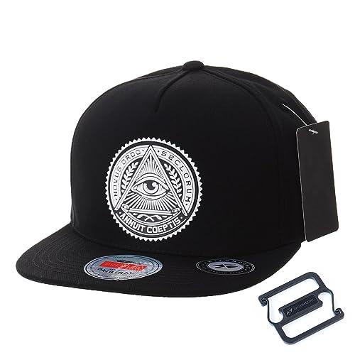 WITHMOONS Gorras de béisbol Gorra de Trucker Sombrero de Snapback Hat  Illuminati Patch Hip Hop Baseball 7dcd91c0121