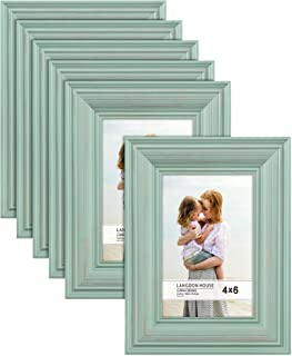 Picture Frame 2er Wood Grey in shabby-chic look frame format 10 x 15 cm 2 photos