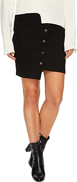 J.O.A. - Button Up Asymmetric Hem Skirt