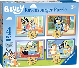Ravensburger Bluey - 4 in Box (12, 16, 20, 24 Pieces) Jigsaw Puzzles for Kids Age 3 Years Up