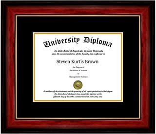 Single Diploma Frame with Double Matting for 9