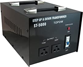 5000W Step Up and Down Electrical Power Voltage Converter Transformer Heavy Duty