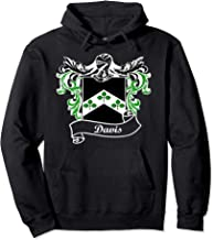 Davis Coat of Arms surname last name family crest  Pullover Hoodie