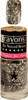KRAYONS GEL BASE GLOSSY EFFECT NAIL POLISH ENAMEL COLOR, 6ML SAFE DRY FAST COLLECTION FOR WOMEN, TEENS, KIDS (SHIMMER SILVER)