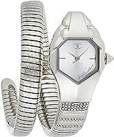 Just Cavalli Just Glam EVO 2 Womens Quartz Watch, Analogue, Stainless Steel , JC1L113M0015