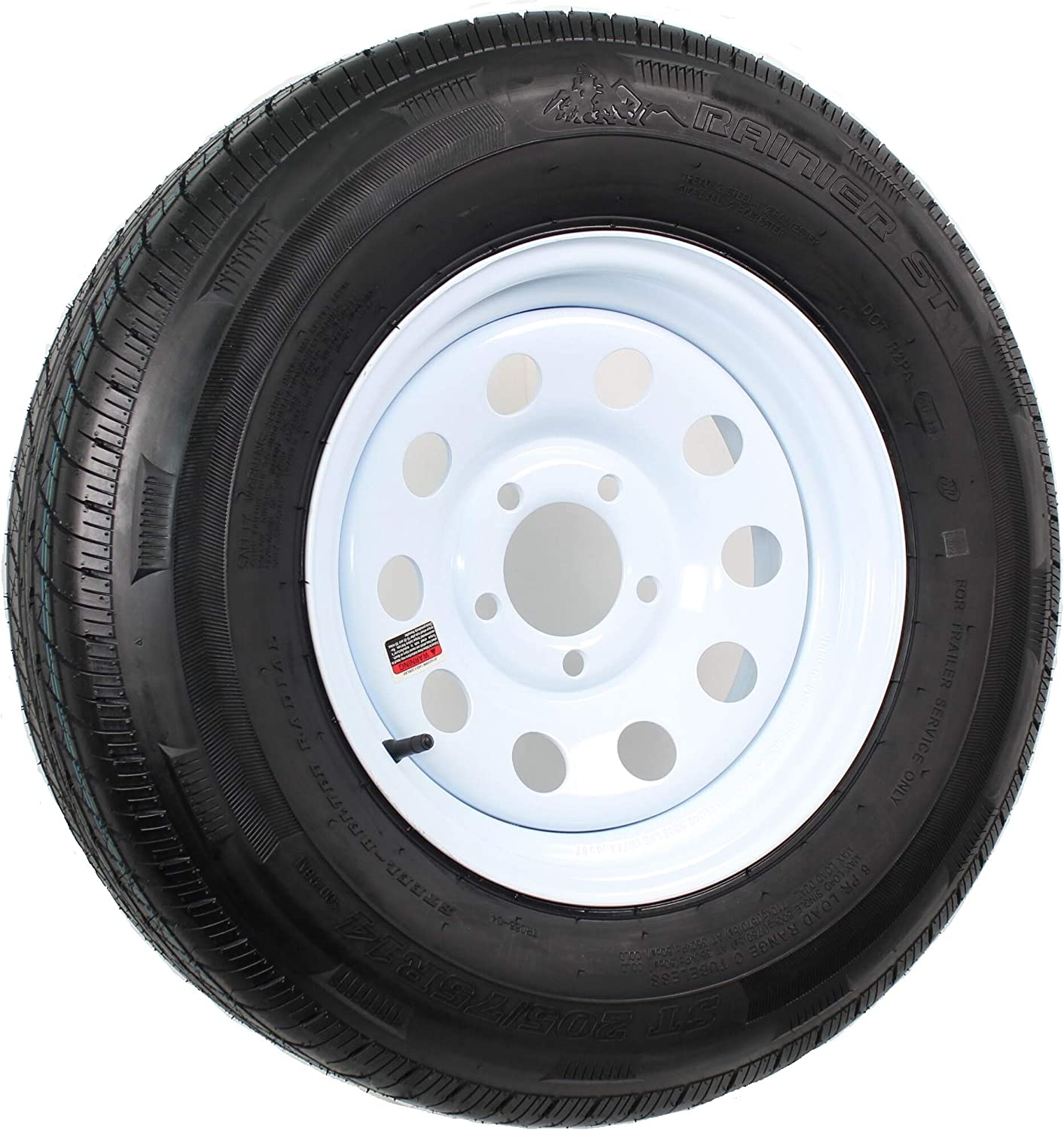 14 inch White Painted Modular Trailer 2021 and Wheel 75R14 Detroit Mall Radial 205